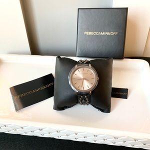 NWT Rebecca Minkoff jewel leather watch